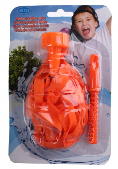 Eddy Toys waterballonnen oranje 60 stuks
