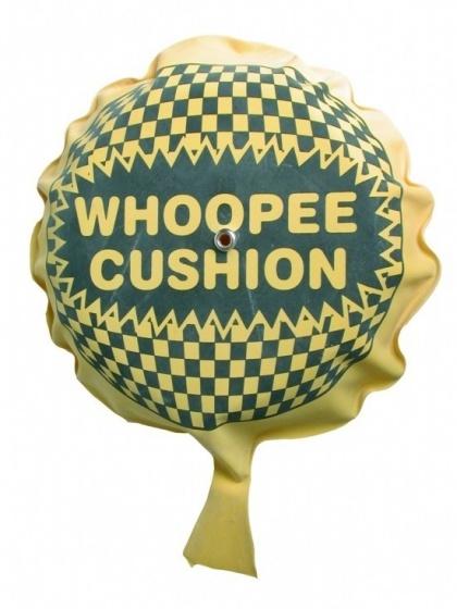 Eddy Toys Whoopee scheetkussen 10 cm geel