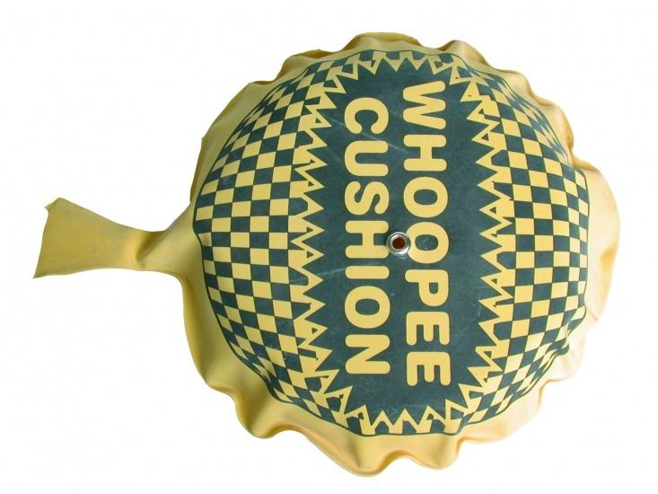 Eddy Toys Whoopee scheetkussen geel 18 cm