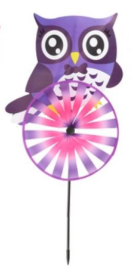 Eddy Toys windmolen uil 60 cm paars