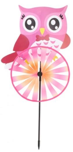 Eddy toys windmolen uil 60 cm roze