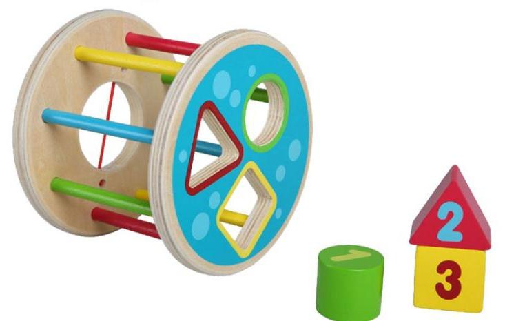 Edu Toys rollende houten vormstoof 14 x 11,5 cm