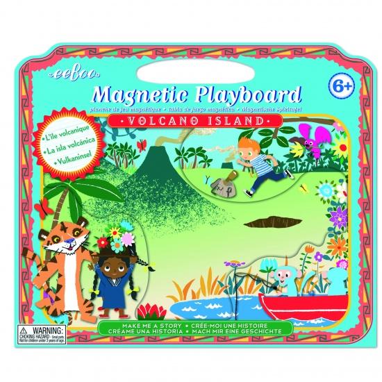 Eeboo Magnetic Playboard : Volcano Island