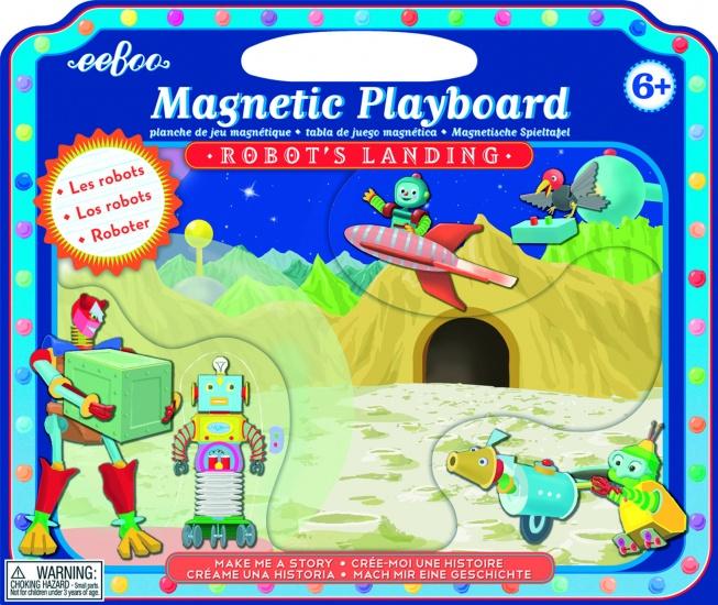 Eeboo Magnetic Playboard Robot's Landing