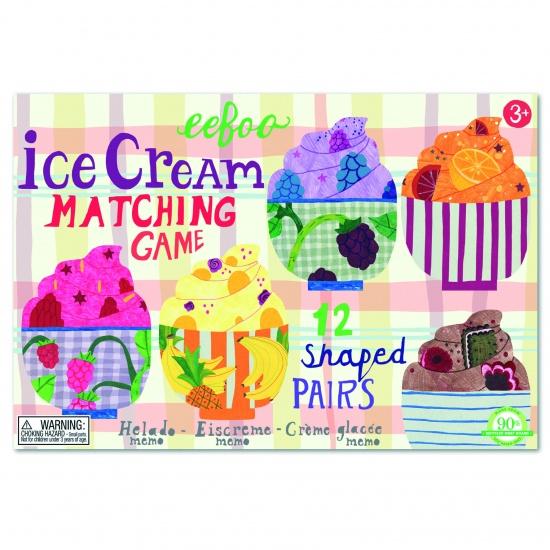 Eeboo Memory Game Ice Cream Matching 24 Stuks