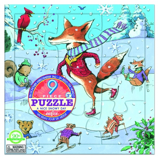Eeboo Puzzel A Nice Snowy Day 9 Stukjes