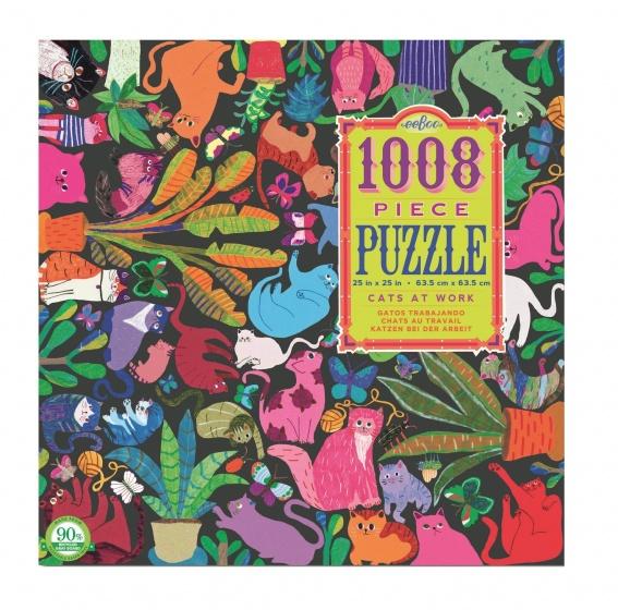 Eeboo puzzel katten aan het werk 1008 delig