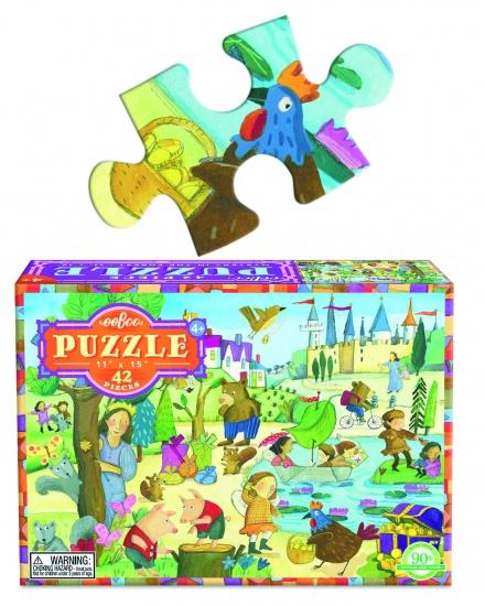 Eeboo Puzzel Mystery in The Forest 42 Stukjes