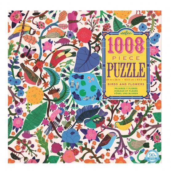 Eeboo puzzel vogels en bloemen 1008 delig