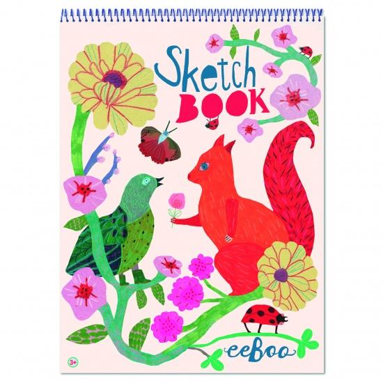 Eeboo Schetsblok Bird And Squirrel