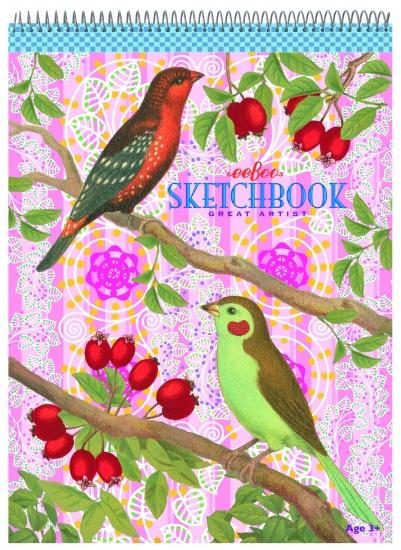 Eeboo Schetsblok Vogels en Besjes