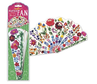 Eeboo waaier van papier bloemen 20.5 x 38 cm