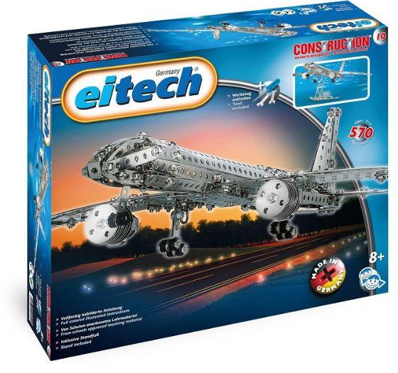 Eitech bouwset Vliegtuig staal zilver 570 delig