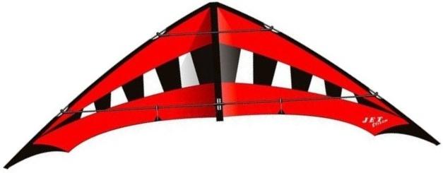 Elliot tweelijnsstuntkite Jet Stream Reloaded 245 cm rood