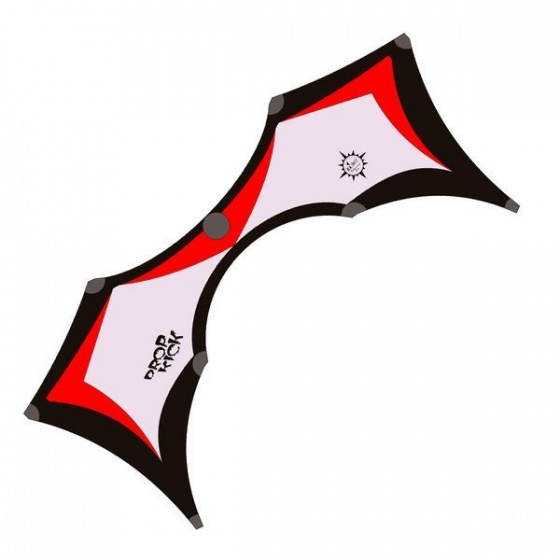 Elliot vierlijnsstuntkite Dropkick 2.0 Vented 209 cm rood