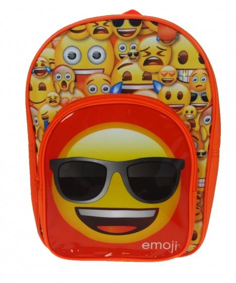 Emoji rugzak 24 x 32 x 8 cm oranje/geel
