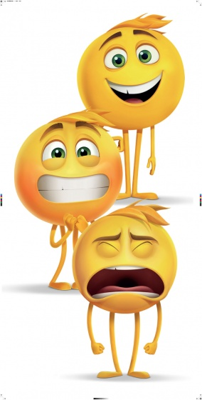 Emoji badlaken 70 x 140 cm wit