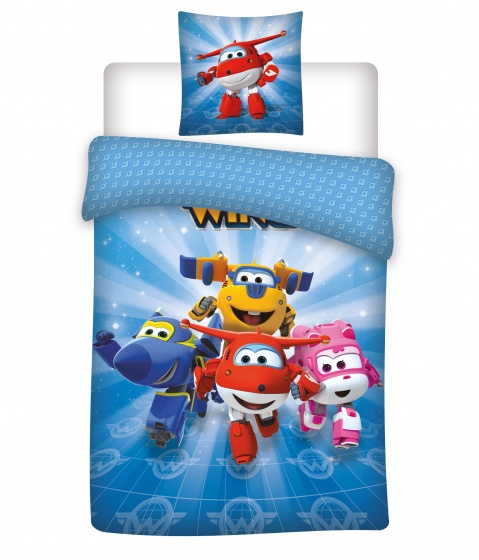Nickelodeon dekbedovertrek Super Wings Jett 140 x 200 cm blauw