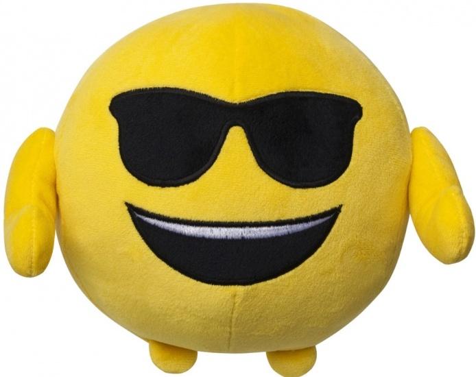 Emoji Kussen pluche Imoji: zonnebril 18 cm