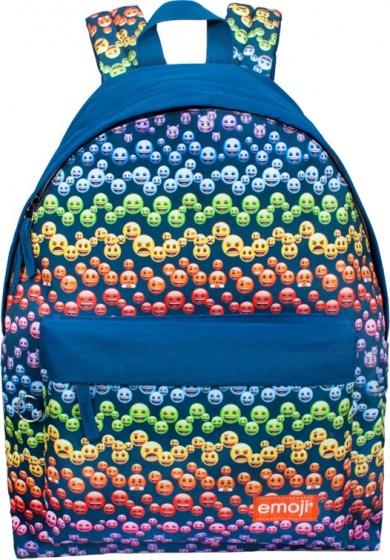 7a77f99ef4d Emoji Regenboog Rugzak meisjes blauw 18 liter