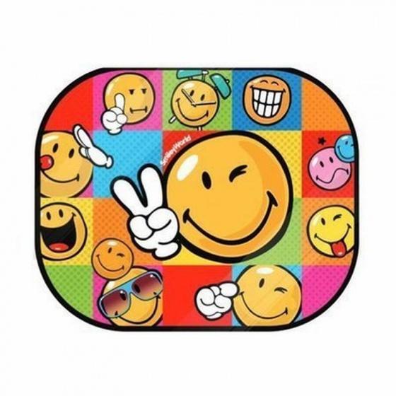Emoji zonnescherm Smiley set 2 stuks kopen