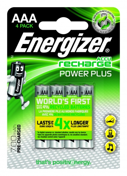 Energizer Lade Power Plus AAA Batterien 700mAh 4 Stück