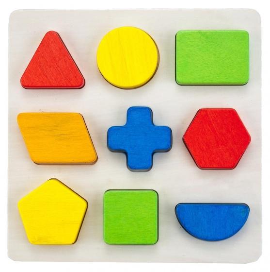 Engelhart leerspel geometrisch 9 vormen 30 cm