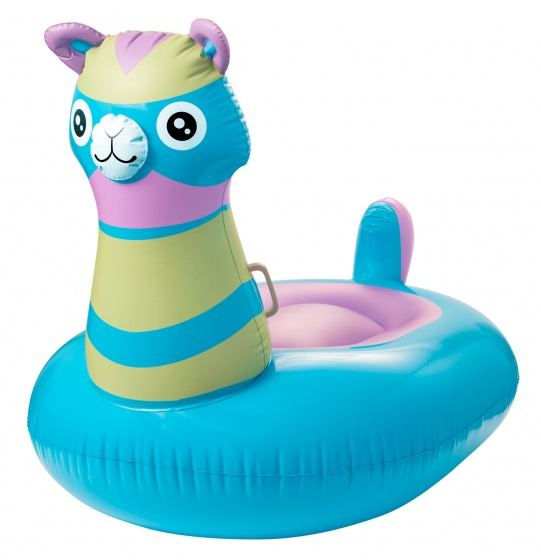 Enjoy Summer Opblaasbare alpaca float 160 cm blauw