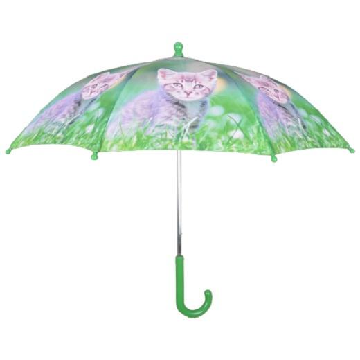 Esschert Design kinderparaplu kittens 71 cm polyester groen