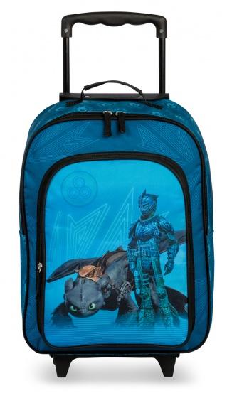 Fabrizio trolley met voorvak Universal Dragons blauw 19 liter