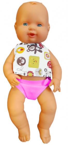 Falca babypop Air Bolsa 34 cm meisjes wit-roze