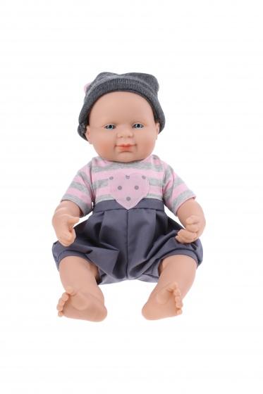 Falca Babypop 40 cm jongen grijs