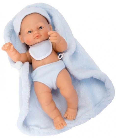 Falca babypop New Born 25 cm blauw