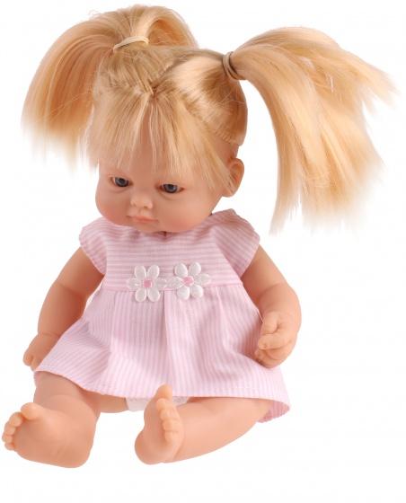 Falca babypop New Born staartjes strepen 23 cm roze