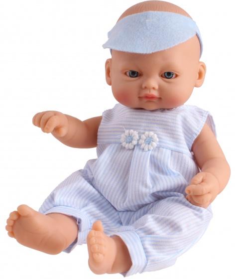 Falca babypop New Born strepen 23 cm blauw