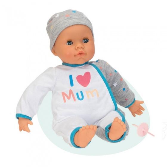 Falca interactieve babypop 38 cm i love mum wit