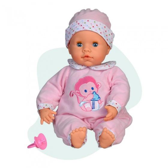 Falca interactieve babypop 38 cm roze