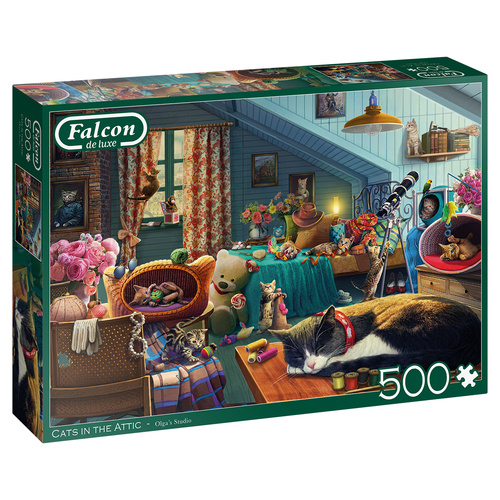 Falcon legpuzzel Cats in the Attic 500 stukjes