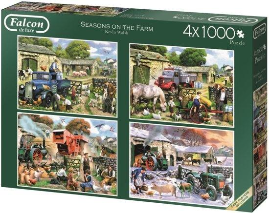 Jumbo Falcon legpuzzel Seasons on the Farm 4 puzzels 1000 stukjes
