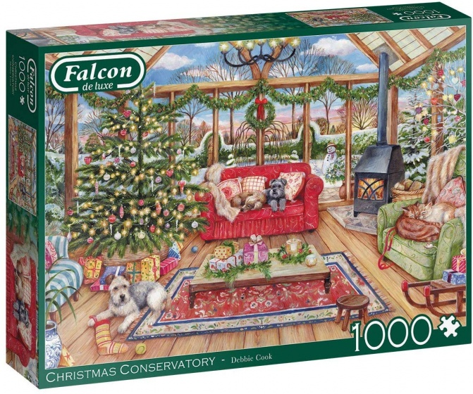 Falcon legpuzzel The Christmas Conservatory 1000 stukjes