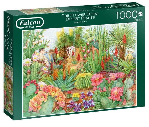 Jumbo legpuzzel Falcon Flower Show Desert Plants 1000 stukjes