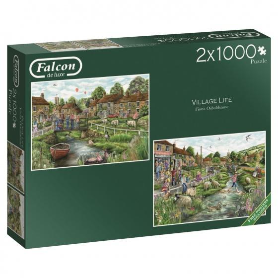 Jumbo Falcon legpuzzel Village Life 2 x 1000 stukjes