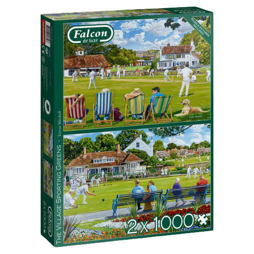 Falcon puzzel Village Greens karton 1000 stukjes 2 stuks