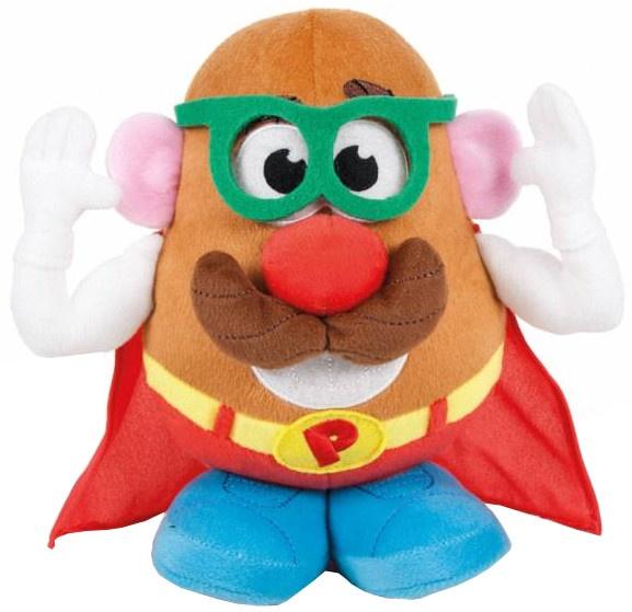 Famosa knuffel Mr. Potato Head bril 18 cm groen/blauw