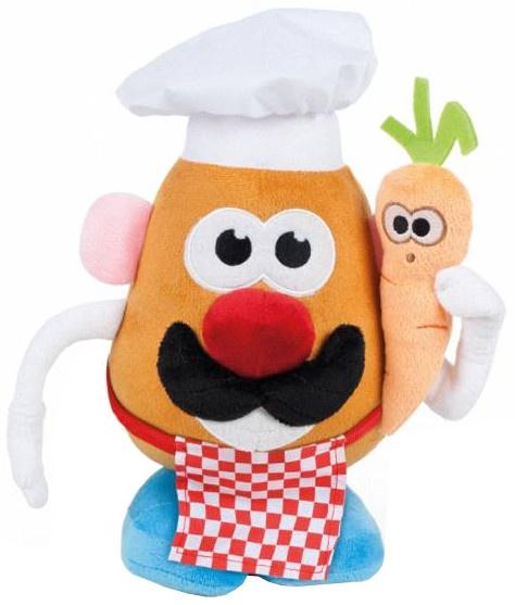 Famosa knuffel Mr. Potato Head kok 18 cm wit/rood/blauw