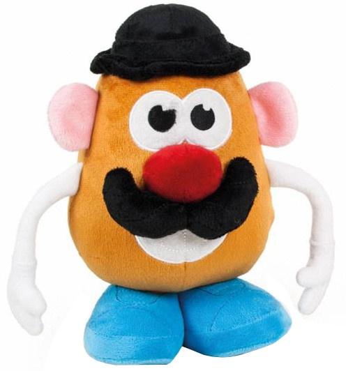 Famosa knuffel Mr. Potato Head hoed 18 cm zwart/blauw