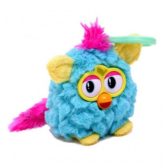 Famosa Sleutelhanger Furby met geluid 8 cm turquoise