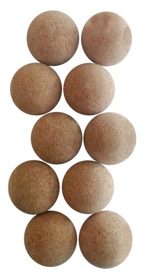 FAS tafelvoetbalballen kurk 10 stuks bruin