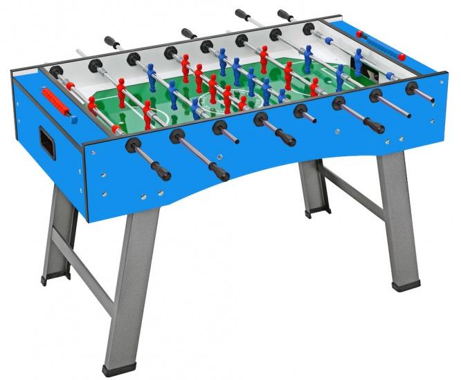 FAS voetbaltafel Smile 114,5 x 70 x 85 cm blauw