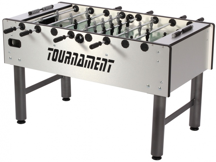 FAS voetbaltafel Tournament 2.0 PS 114,5 x 70 x 87 cm zilver